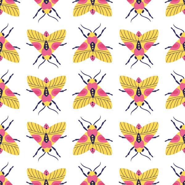 colorful bug peel stick wallpaper