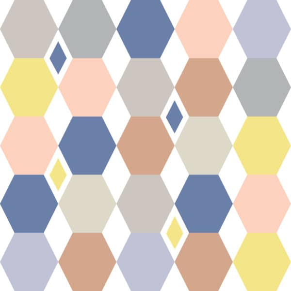 colorful hexagon wallpaper peel and stick