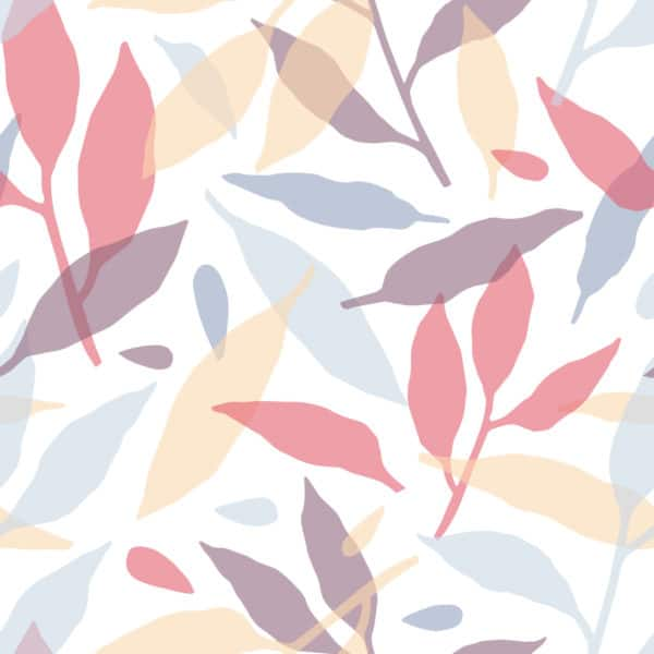 pink colorful leaf peel and stick removable wallpaper