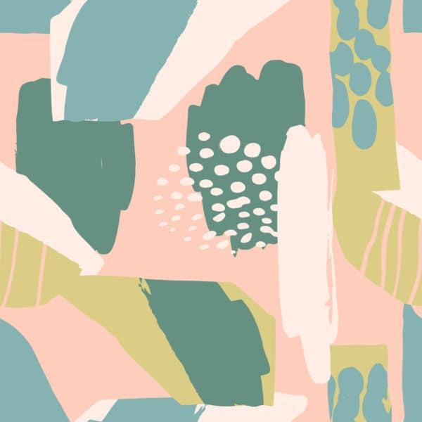 colorful modern stroke peel stick wallpaper