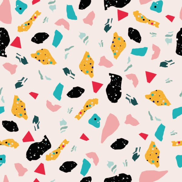 pink colorful terrazzo peel and stick removable wallpaper