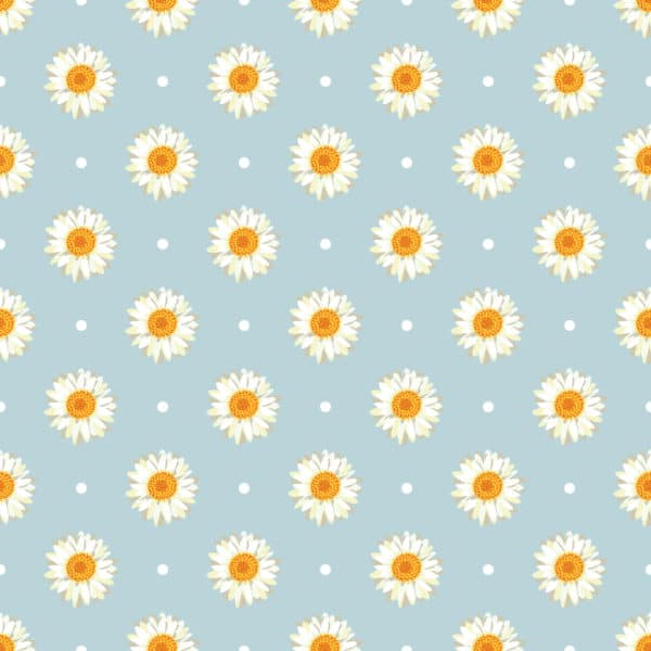 white and blue daisy polka dots peel and stick removable wallpaper