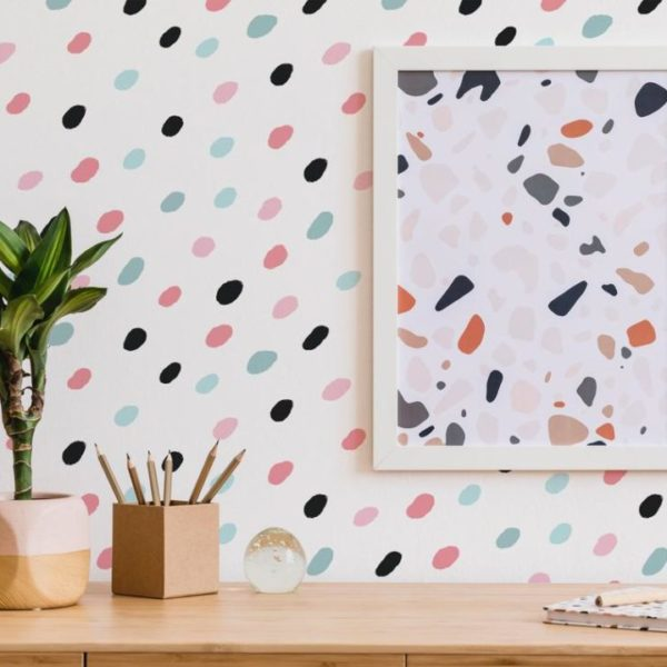 dot peel stick wallpaper