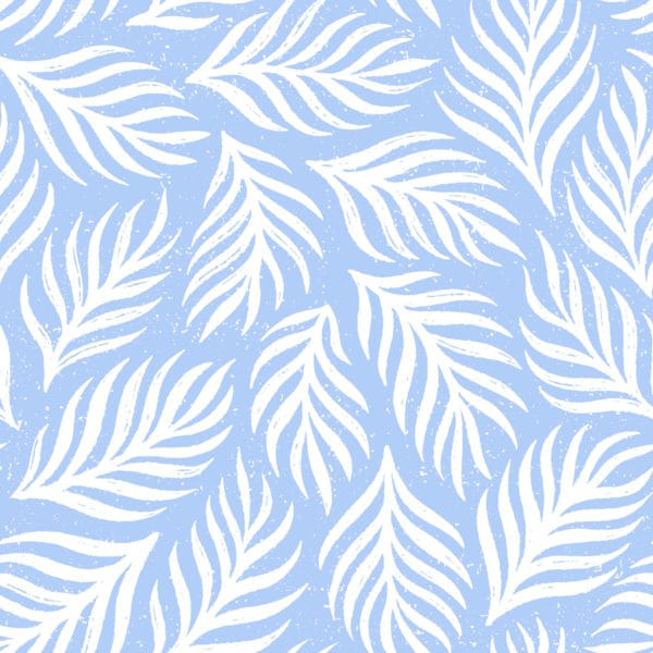 blue and white dreamy leaf wallpaper peel and stick