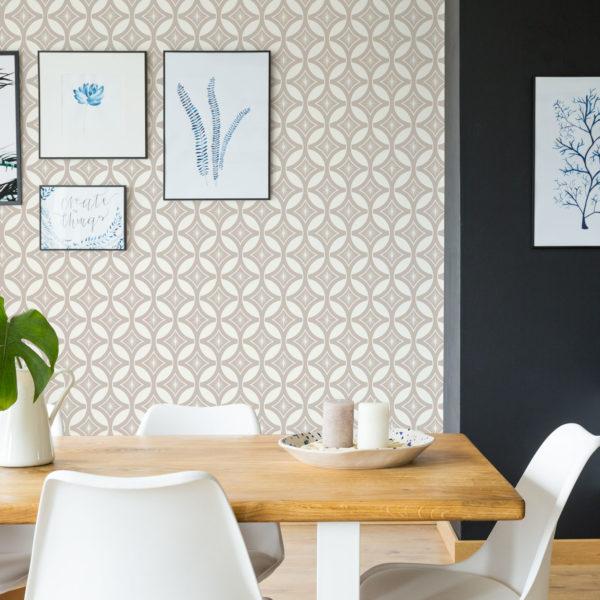 elegant geometric peel stick wallpaper