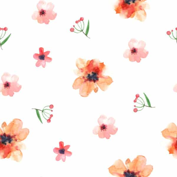 red floral nursery peel and stick removable wallpaper
