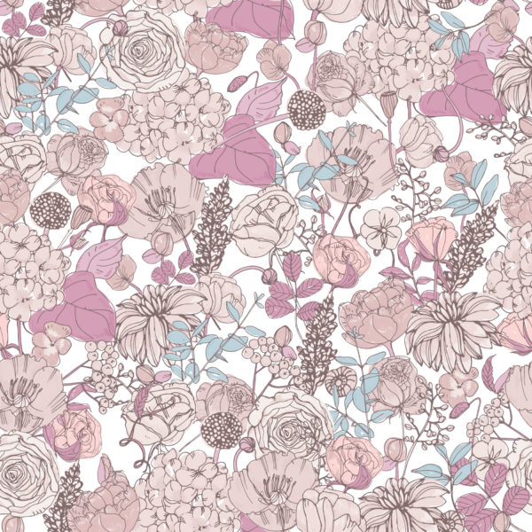 pink and beige floral peel and stick removable wallpaper
