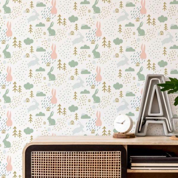 forest peel stick wallpaper