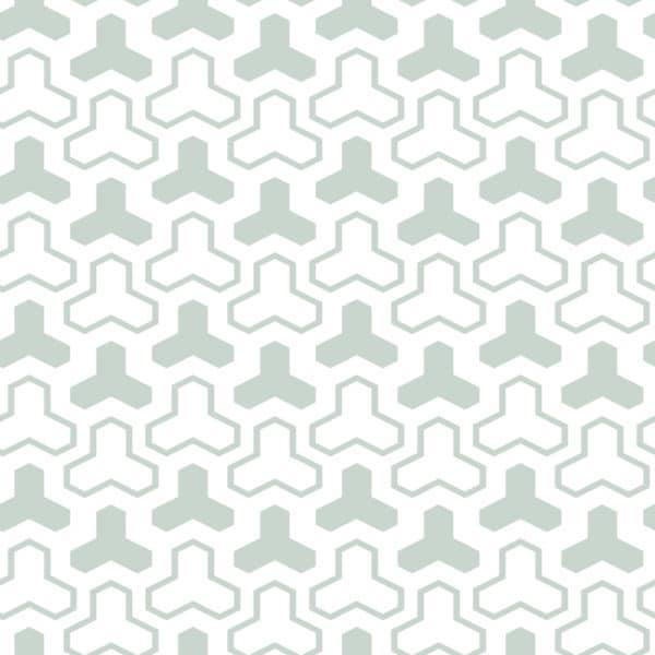 pistachio geometric shapes self-adhesive wallpaper