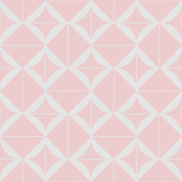 pink geometric square peel and stick removable wallpaper