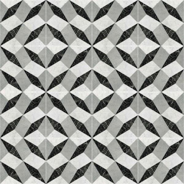 gray geometric tile design pattern