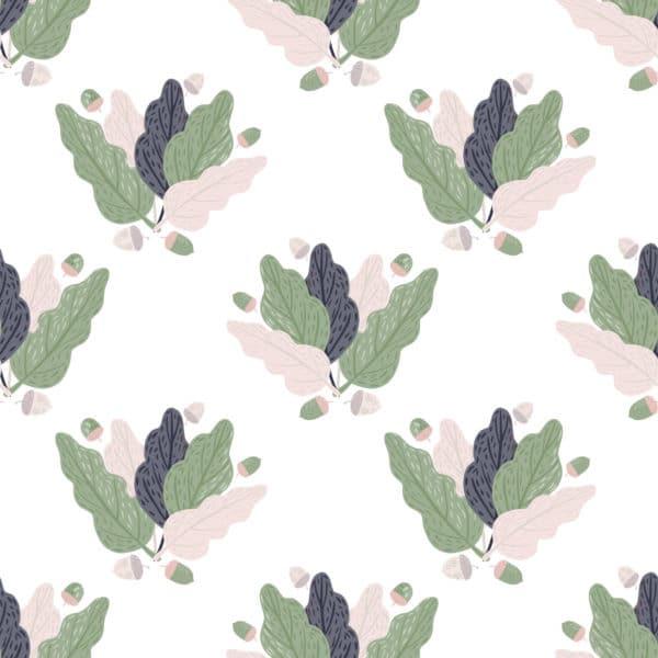 leaf illustration peel stick wallpaper