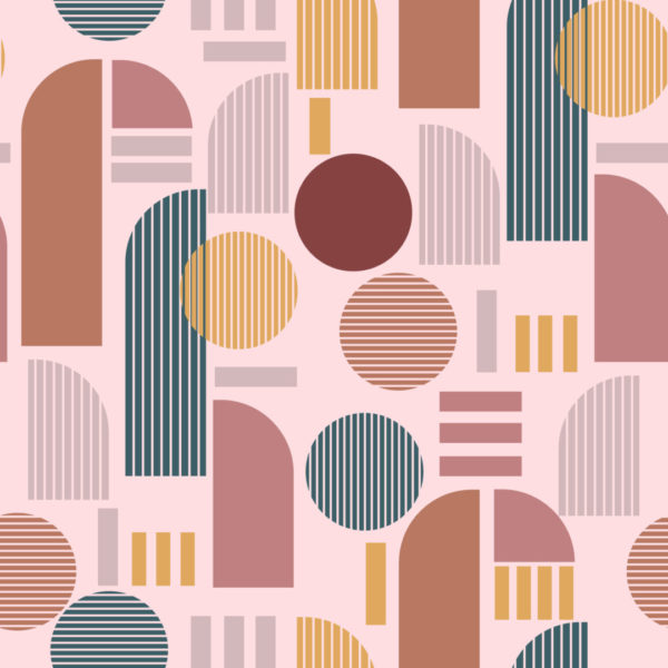 brown and pink light arch design pattern