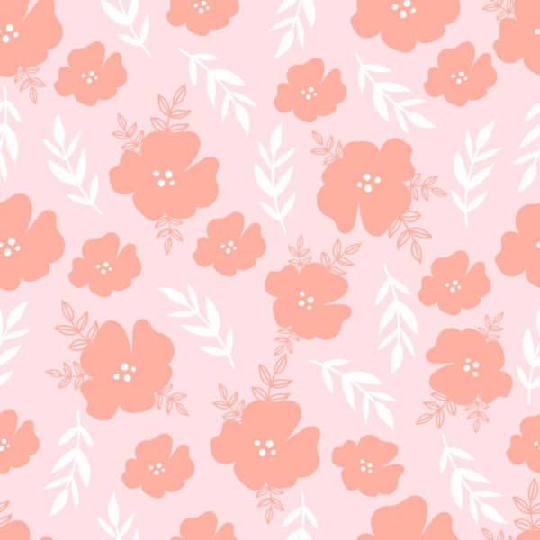 pink modern floral peel and stick removable wallpaper