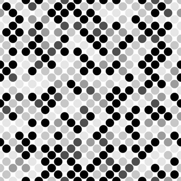 monochrome polka dots peel stick wallpaper