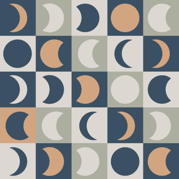 multicolored moon peel stick wallpaper