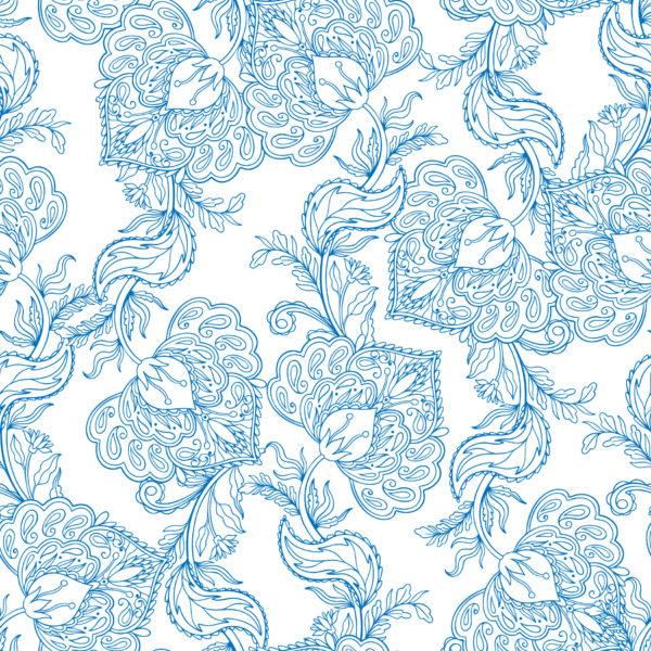 oriental floral peel stick wallpaper