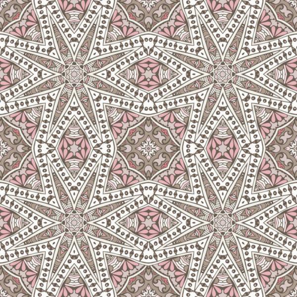 beige oriental geometric wallpaper roll