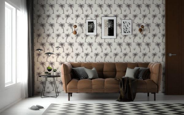 palm toile peel stick wallpaper