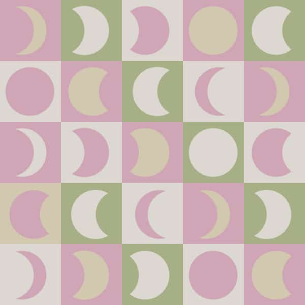 pink pastel moon peel and stick removable wallpaper