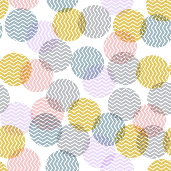 pink pastel zig-zag polka dots peel and stick removable wallpaper