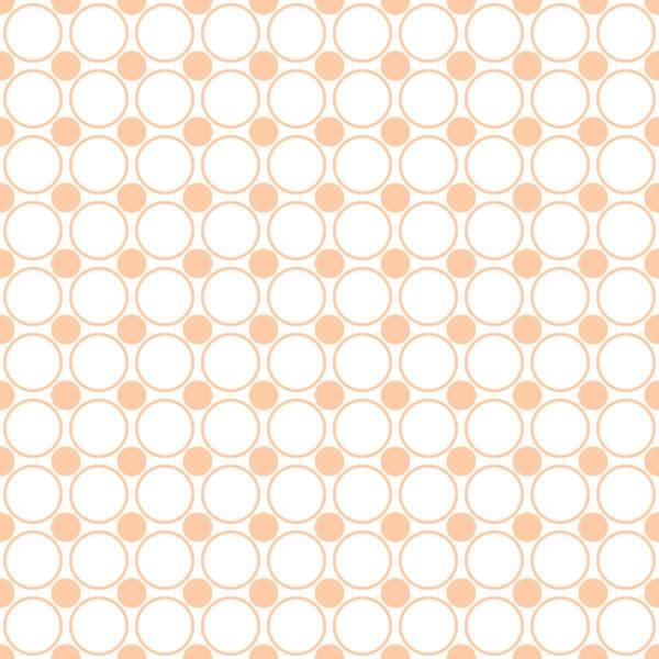 peach and white polka dot self-adhesive wallpaper