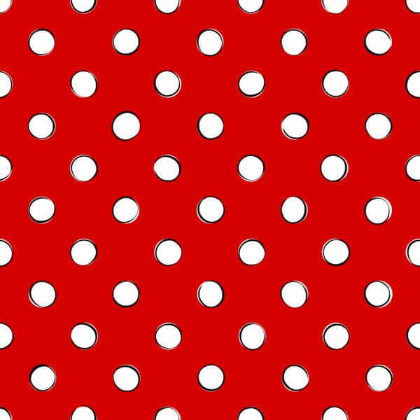 white and red polka dots wallpaper peel and stick
