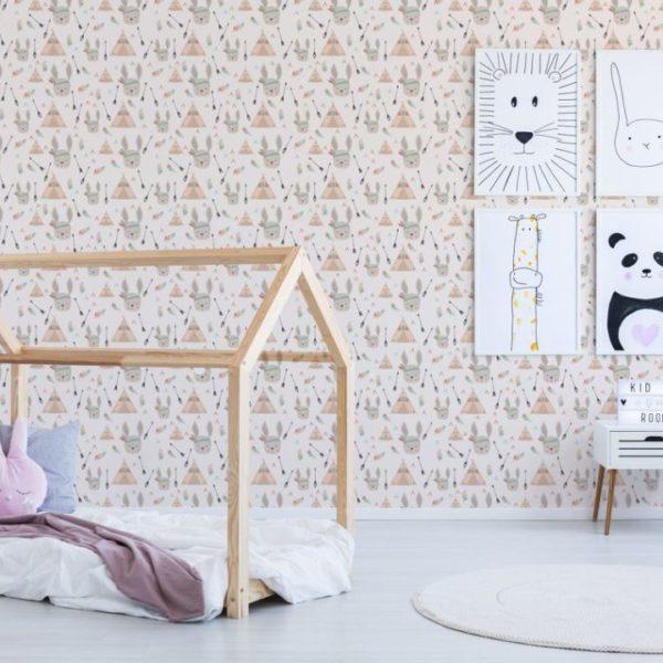 rabbit peel stick wallpaper