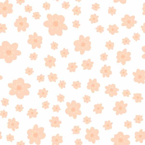 orange retro floral self-adhesive wallpaper