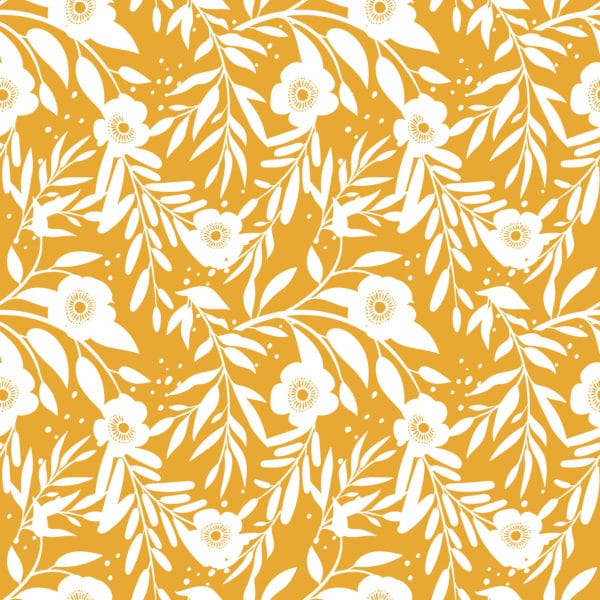marigold retro floral peel and stick removable wallpaper