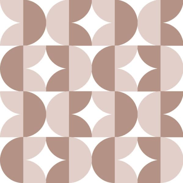 brown retro geometric peel and stick removable wallpaper