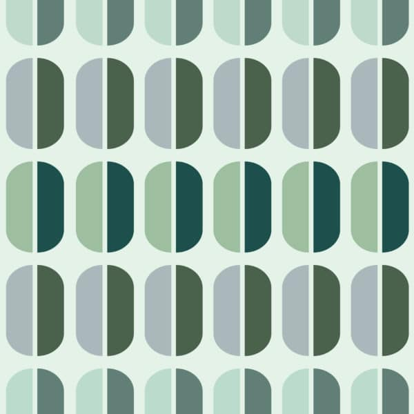 green retro peel and stick removable wallpaper