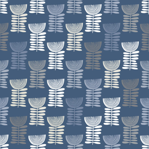 blue scandi floral peel and stick removable wallpaper