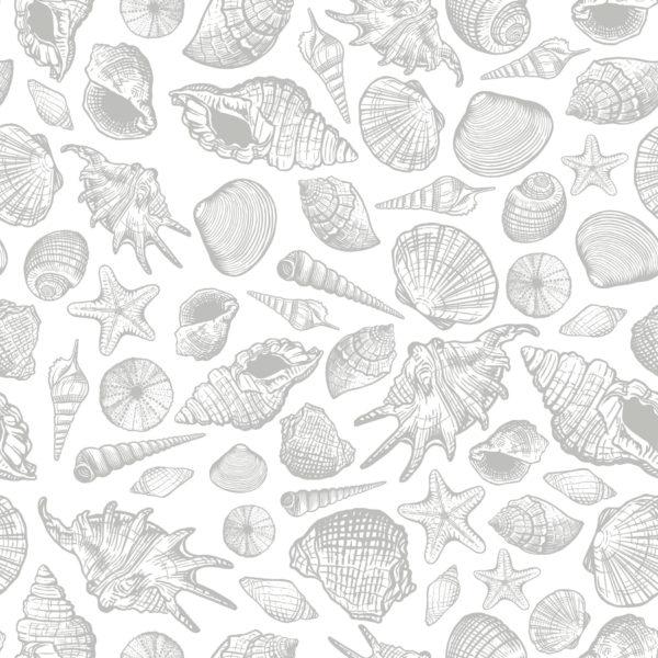 gray sea shell self-adhesive wallpaper