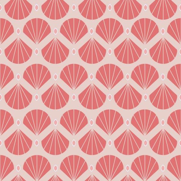 shell retro peel stick wallpaper