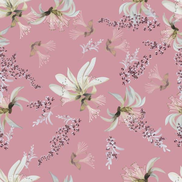 tropical floral peel stick wallpaper