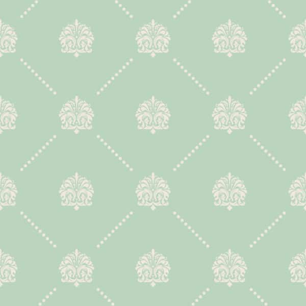 green vintage self-adhesive wallpaper