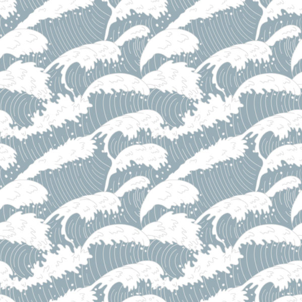 blue and white wave peel and stick removable wallpaper