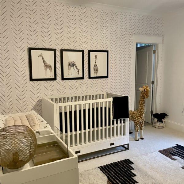 Pick up sticks wallpaper in nursery