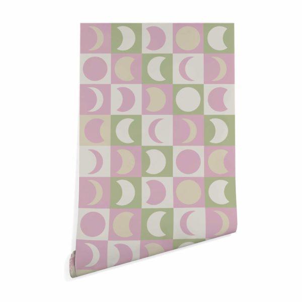 pastel moon stick and peel wallpaper
