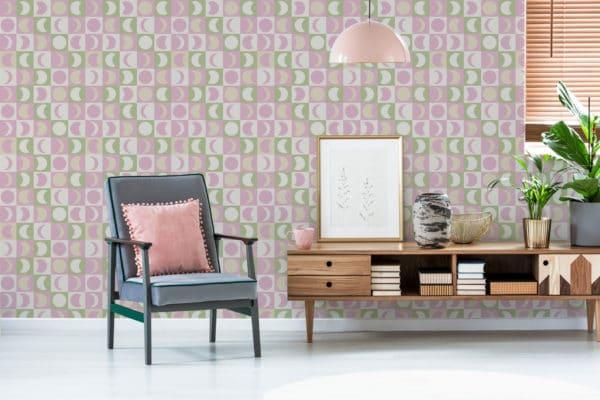 pastel moon peel stick wallpaper