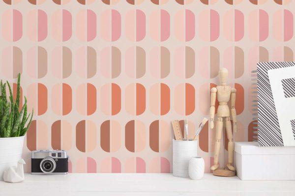 retro stick and peel wallpaper