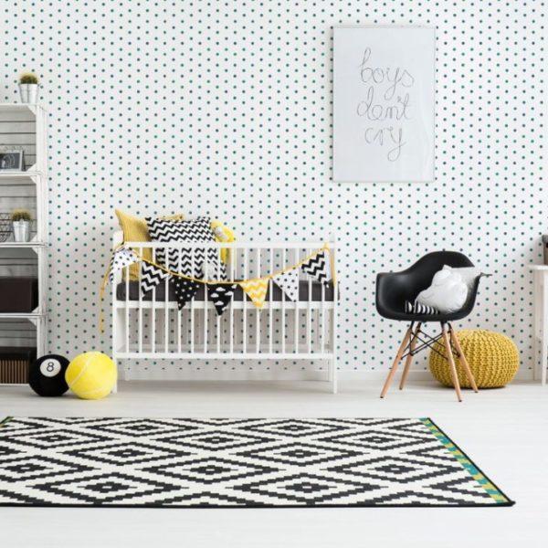polka dot peel stick wallpaper