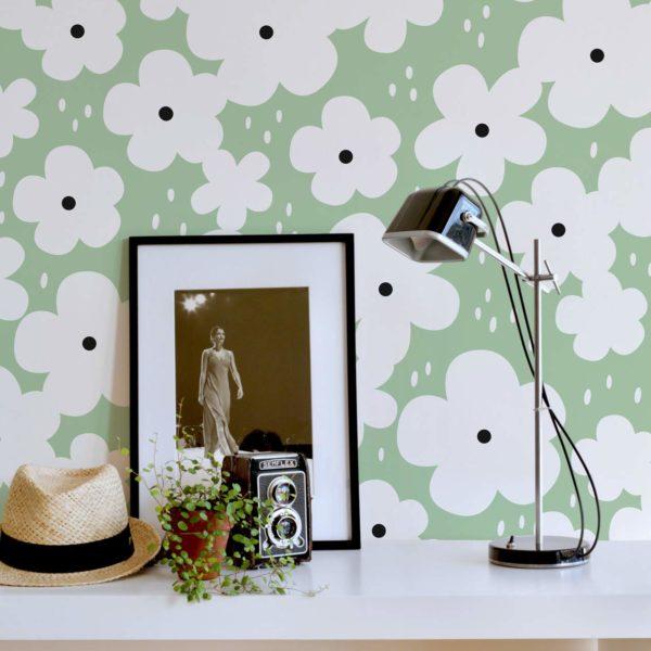 retro floral peel & stick