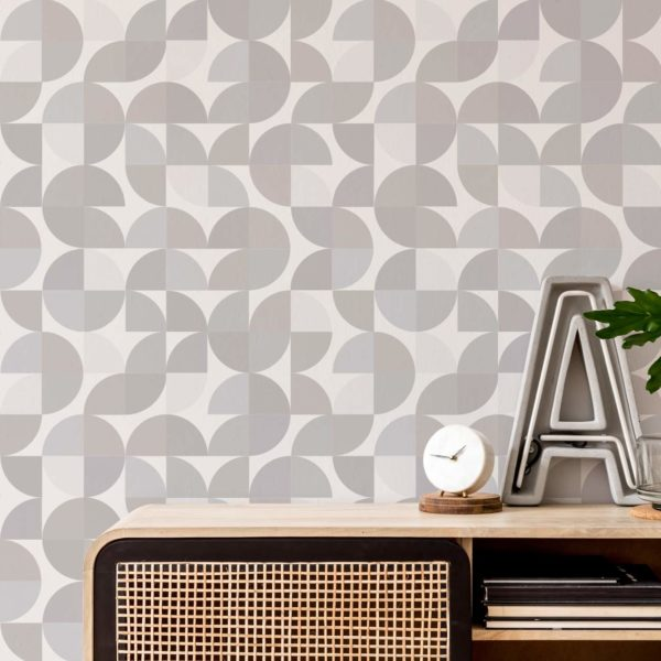 beige retro self-adhesive wallpaper