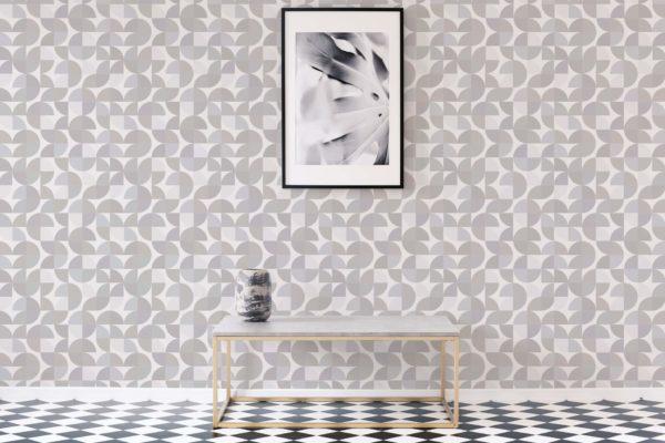 beige retro removable wallpaper