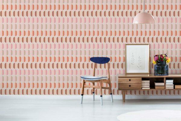 pink retro wallpaper peel and stick