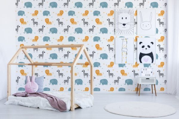 Peel and stick wallpaper safari theme