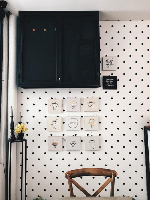 black simple polka dots peel and stick wallpaper