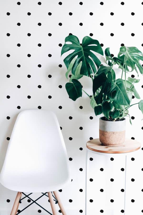 simple polka dots peel stick wallpaper